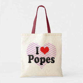 I Love Popes Tote Bag