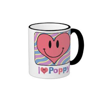I Love Poppy Ringer Mug
