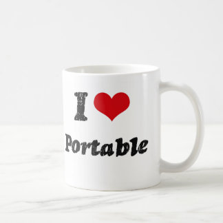 I Love PORTABLE Coffee Mugs