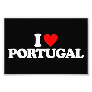 I LOVE PORTUGAL PHOTOGRAPHIC PRINT