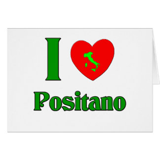I Love Positano Italy Card