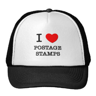 I Love Postage Stamps Mesh Hats