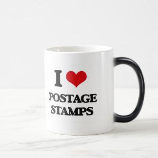 I Love Postage Stamps Morphing Mug