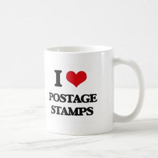I Love Postage Stamps Basic White Mug