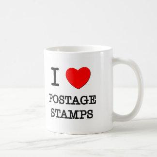 I Love Postage Stamps Mugs