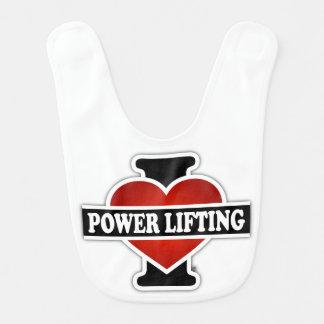 I Love Power Lifting Bib