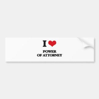 I Love Power Of Attorney Bumper Sticker