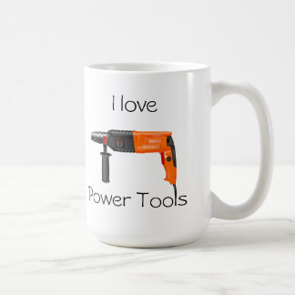 I love Power Tools Basic White Mug