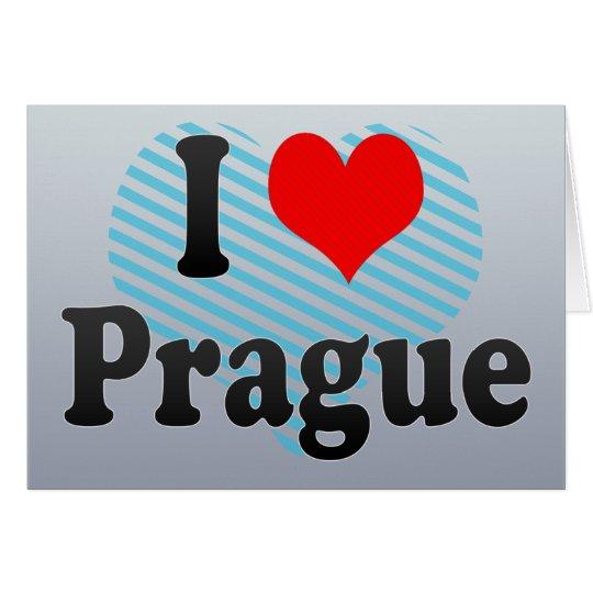 I Love Prague, Czech Republic Card