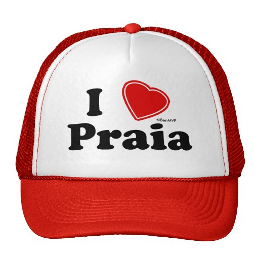 I Love Praia Hat