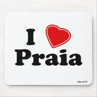 I Love Praia Mouse Pad