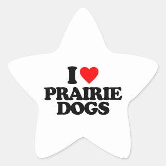 I LOVE PRAIRIE DOGS STICKERS