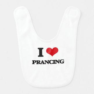 I Love Prancing Bibs