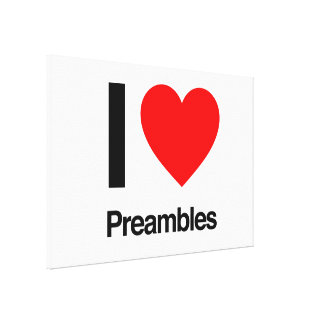 i love preambles gallery wrapped canvas