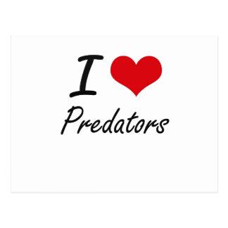 I Love Predators Postcard