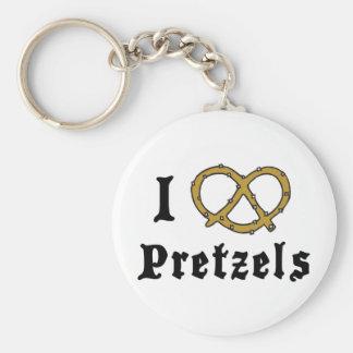 I Love Pretzels Keychains