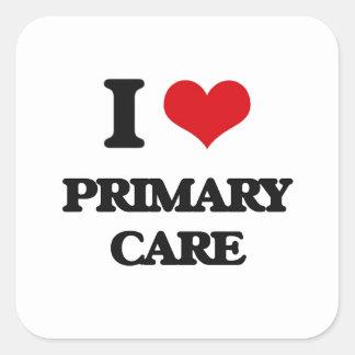 I Love Primary Care Square Sticker