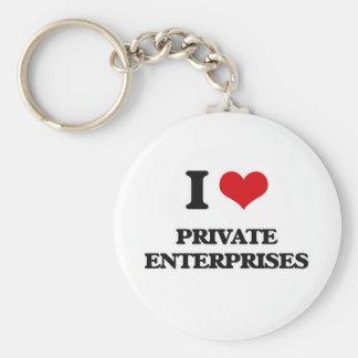 I Love Private Enterprises Key Ring