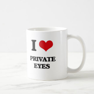I Love Private Eyes Coffee Mug