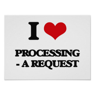 I Love Processing - A Request Poster