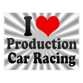 I love Production Car Racing Postcard