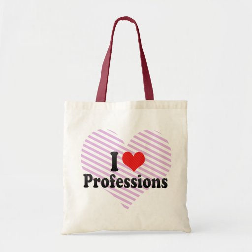 I Love Professions Bags