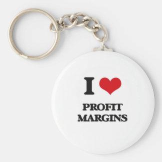 I Love Profit Margins Key Ring