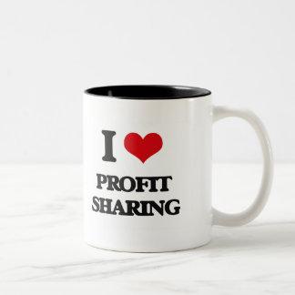 I Love Profit Sharing Two-Tone Mug