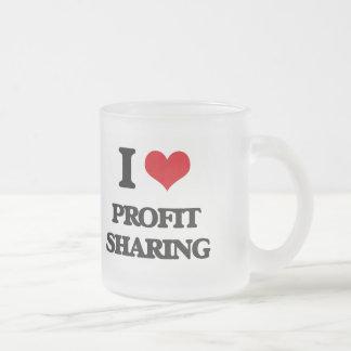 I Love Profit Sharing Frosted Glass Mug