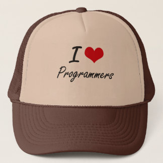 I love Programmers Trucker Hat