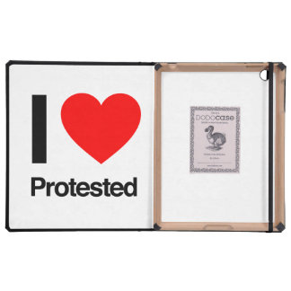i love protested iPad folio case