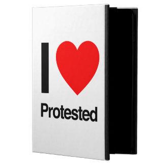 i love protested iPad air cover