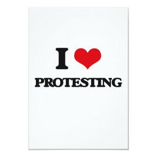 I love Protesting 9 Cm X 13 Cm Invitation Card