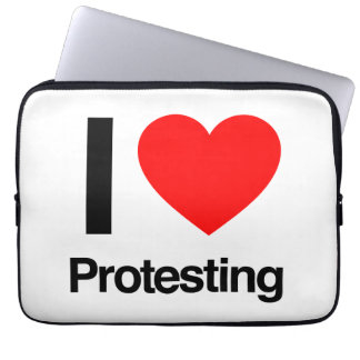 i love protesting computer sleeves