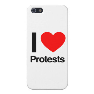 i love protests iPhone 5 cases