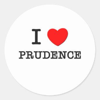 I Love Prudence Stickers