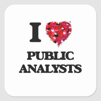 I love Public Analysts Square Sticker