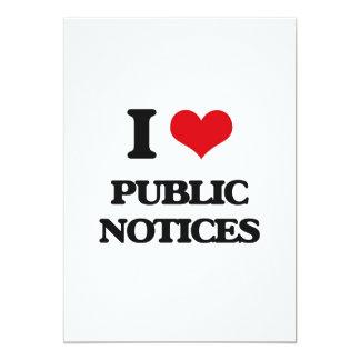 "I Love Public Notices 5"" X 7"" Invitation Card"