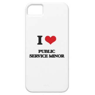 I Love Public Service Minor iPhone 5 Case
