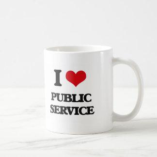 I Love Public Service Basic White Mug