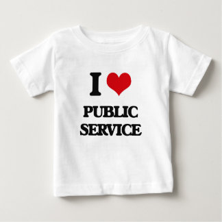 I Love Public Service Tee Shirts
