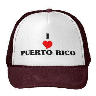 I Love Puerto Rico Mesh Hat