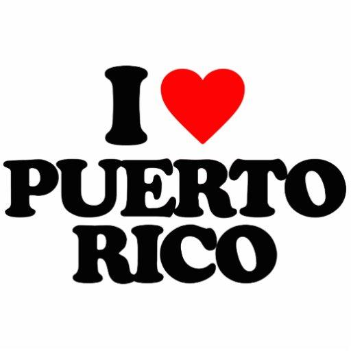 I LOVE PUERTO RICO PHOTO CUTOUTS