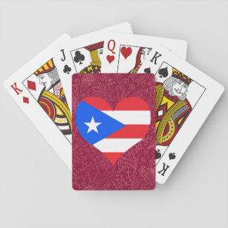 I Love Puerto+Rico Playing Cards