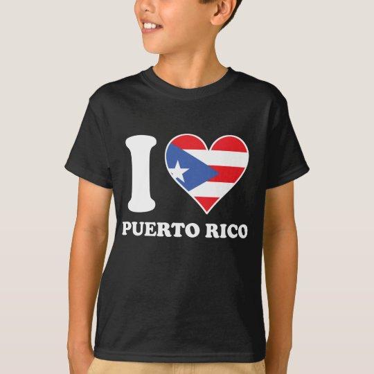 I Love Puerto Rico Puerto Rican Flag Heart T-Shirt
