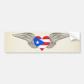 I Love Puerto Rico -wings Bumper Sticker