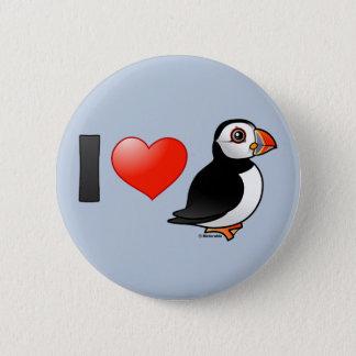 I Love Puffins 6 Cm Round Badge