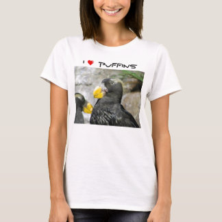 I Love Puffins (light background) T-Shirt