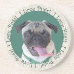 I Love Pugs! Coasters