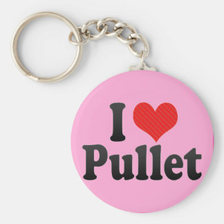 I Love Pullet Keychains